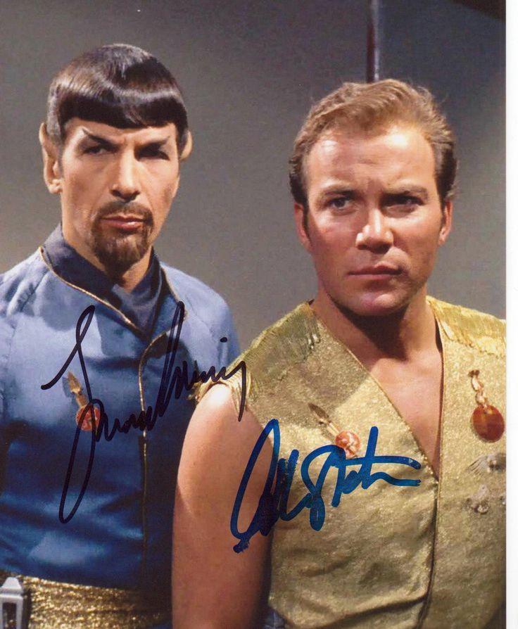 Leonard Nimoy William Shatner Star Trek Spock 8x10 Signed Autograph Photo Auto…