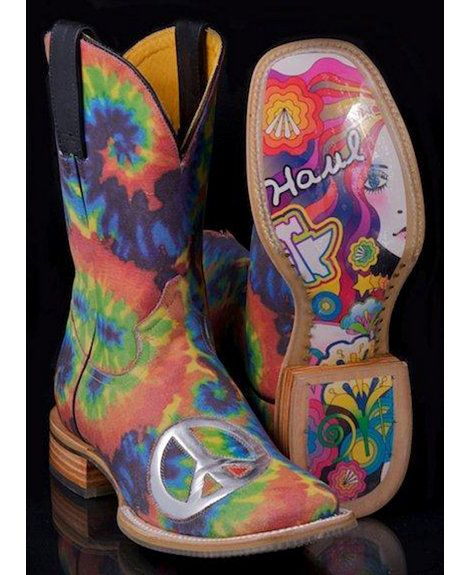 Peace Out Hippie Chick Cowgirl Boots