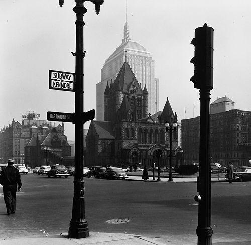 Copley Square, Boston, 1950s