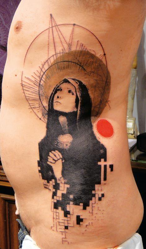 Grafische Tattoos von Xoil aus Frankreich