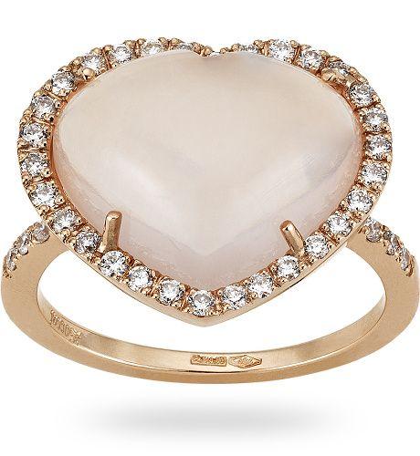 Zoccai #gold #ring Anello in oro rose 18 kt. con 7.50 ct. di quarzo rosa e 0.32 ct. di diamante