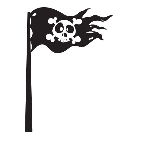 Stickers - KOMOA Design - Stickers ACCESSOIRES PIRATES Drapeau 2