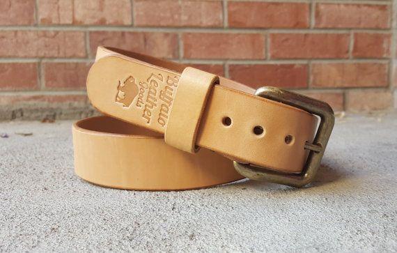 Leather Belt  Men's Belt  Hermann Oak  Veg by BuffaloLeatherGoods