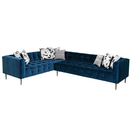 Delano Sectional   Contemporary, Upholstery  Fabric, Sofas  Sectional by Mod Shop