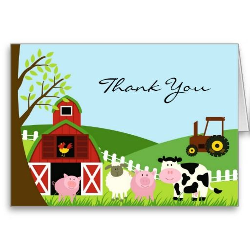 Thank You Animals Card