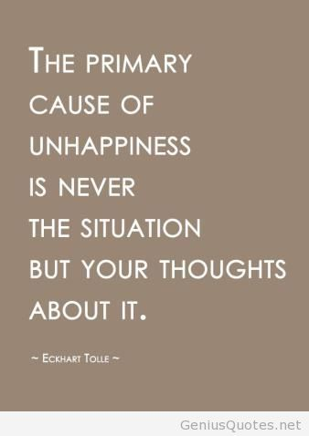 thoughts... Eckhart Tolle