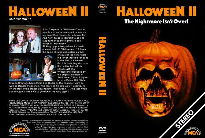 Halloween Ii 1981 Halloween Ii Dvd Cover Design Custom Dvd