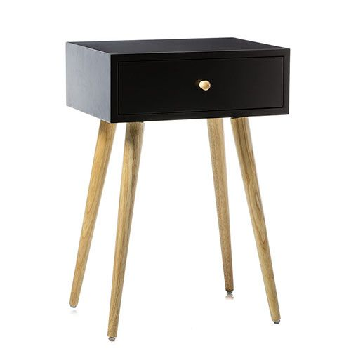 Bay Bedside Table Charcoal