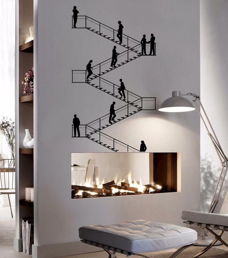 Stairs Career endless lines infinite Stylish Wall Art Sticker Decal 8527