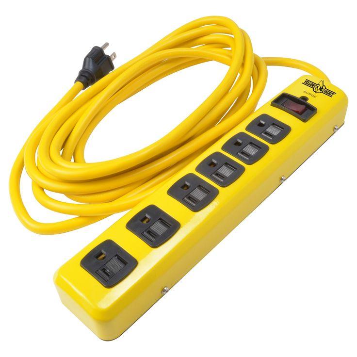 1.5x2.125x11.5 Yellow Jacket Power Strip