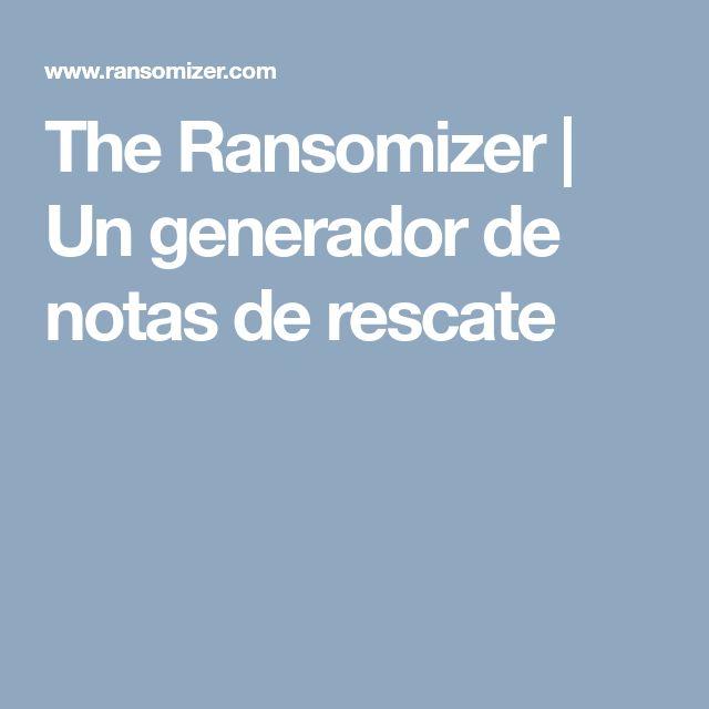 Mejores 24 imgenes de escape room en pinterest escape room the ransomizer un generador de notas de rescate malvernweather Image collections