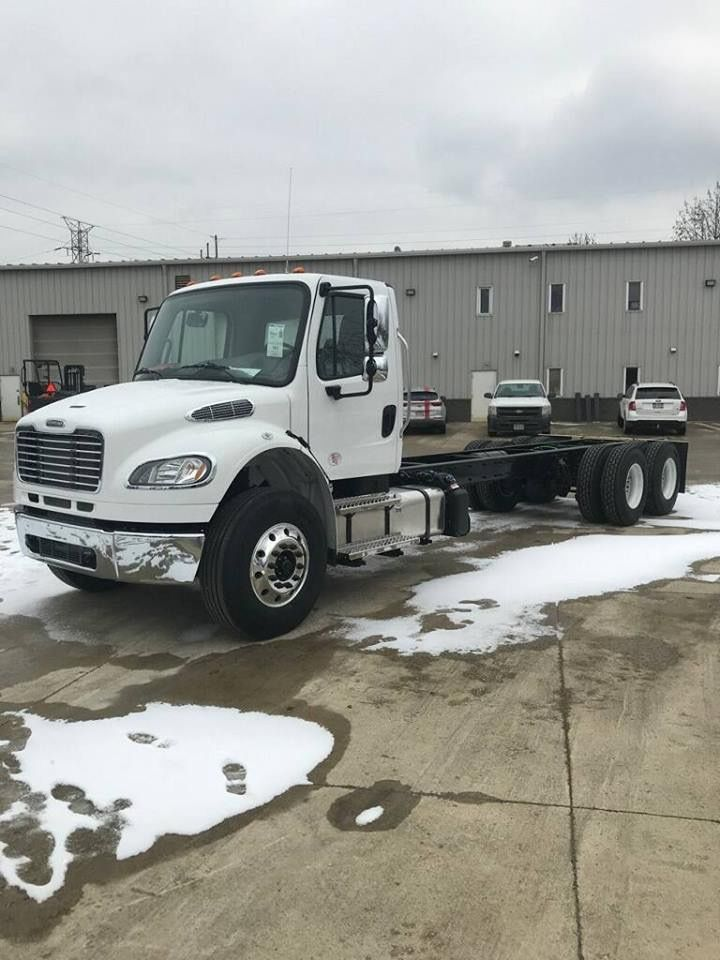 Our new Freightliner truck, the 24 ft bed will be installed soon and made ready to deliver roofing materials to our clients.