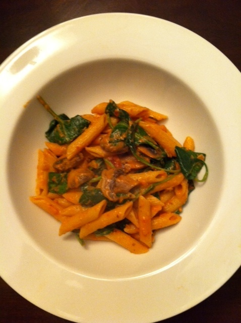 "Noodles & Company copycat penne rosa recipe (from the blog ""just a fork and a spoon"")"