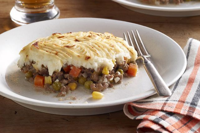 Homestyle Shepherd's Pie is the epitome of comfort food. Ground beef and vegetables get topped with mashed potatoes made extra smooth with the addition of cream cheese!