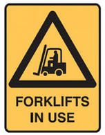 FORKLIFTS IN USE (300x225mm) - Metal $25.85 (Inc GST)