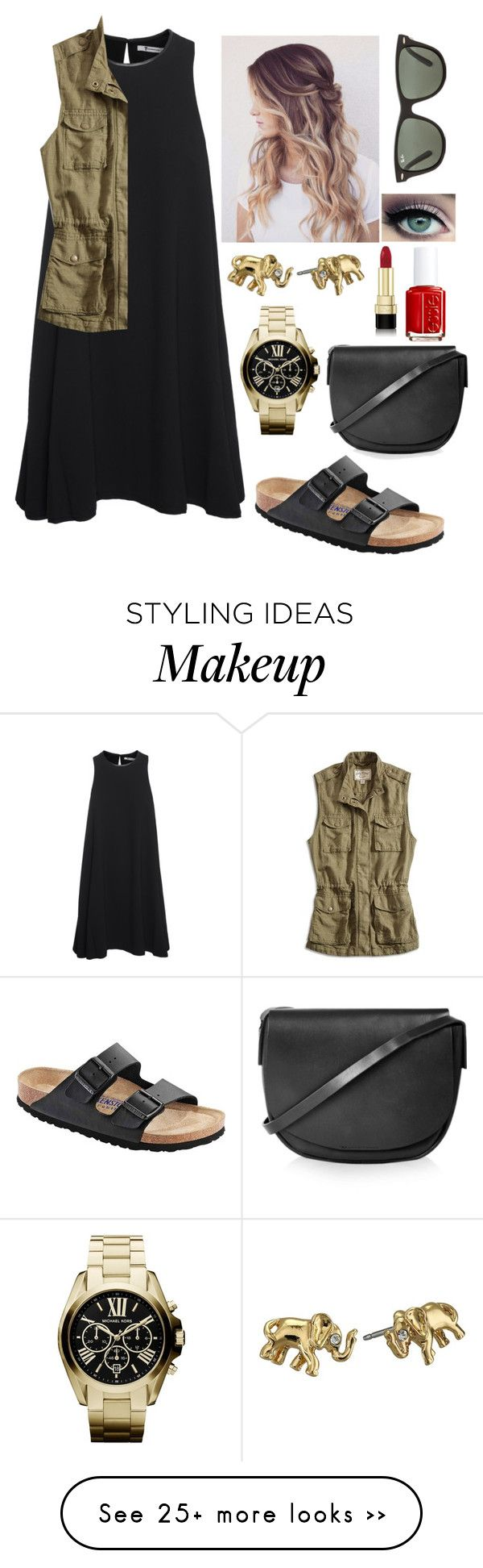 """//the hills have eyes\\"" by mackenziebarnett0719 on Polyvore featuring moda, T By Alexander Wang, Lucky Brand, Birkenstock, Ray-Ban, Kate Spade, Michael Kors, Topshop, Dolce&Gabbana e Essie"