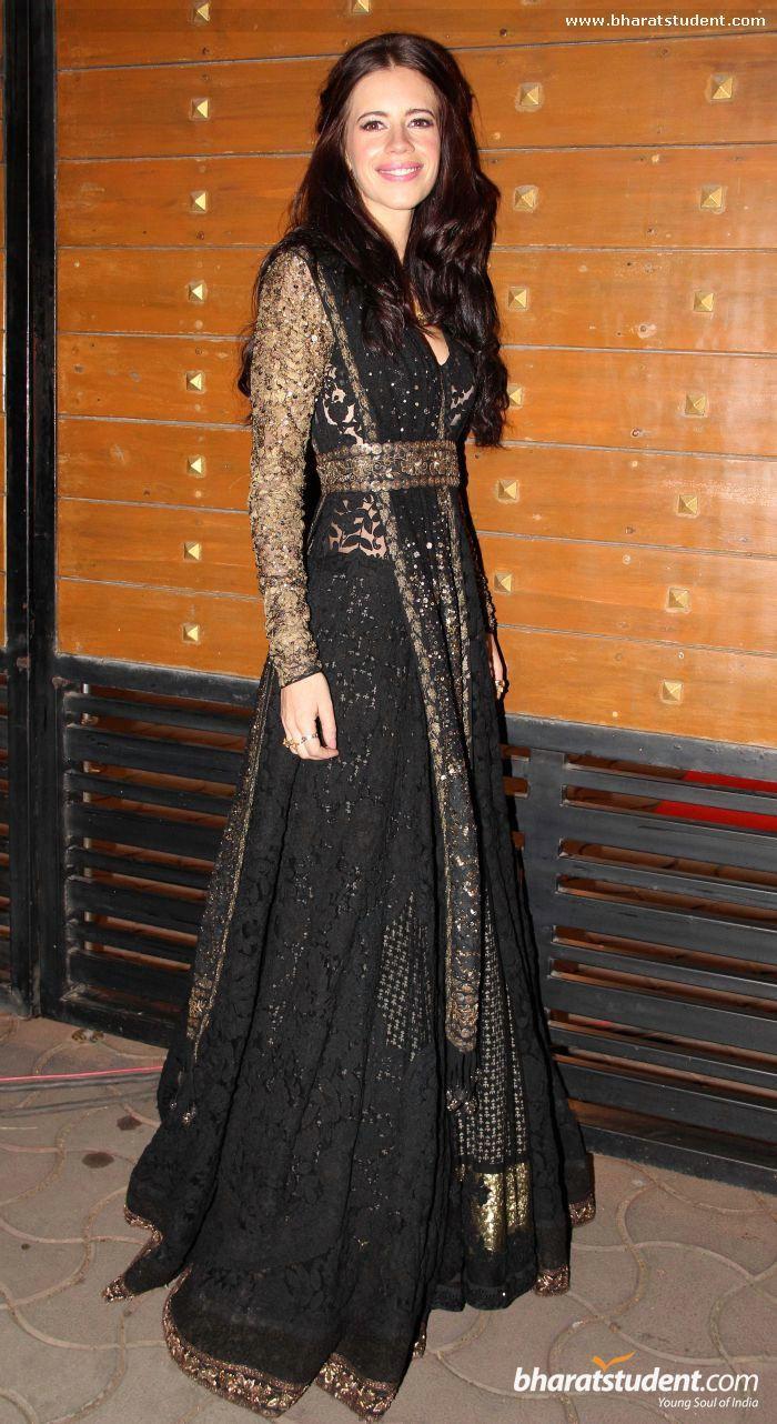 Kalki Koechlin in black #saree #sari #blouse #indian #outfit #shaadi #bridal #fashion #style #desi #designer #wedding #gorgeous #beautiful