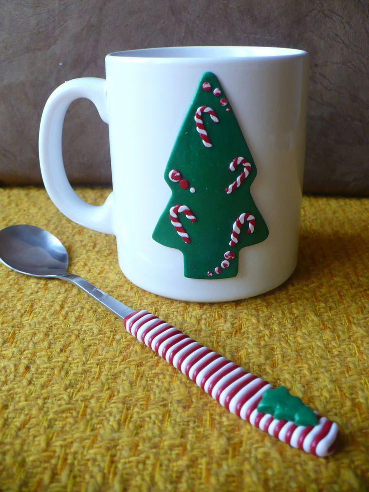 Karácsonyi bögre és kanál