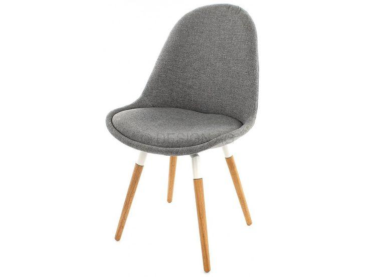 Krzesło Donna Fido szare nogi drewniano-białe — Krzesła Tenzo — sfmeble.pl  #scandinavian  #style  #interior  #homedesign #furniture  #chair