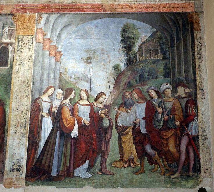 Francesco Francia, Sposalizio di Cecilia e Valeriano, 1505-06 Santa Cecilia oratory (Bologna).