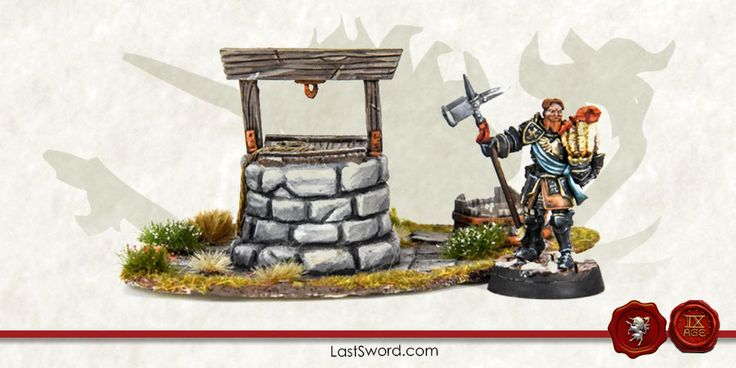 Water well for Warhammer fantasy, Mordheim, frostgrave, Kings of war and others wargames.