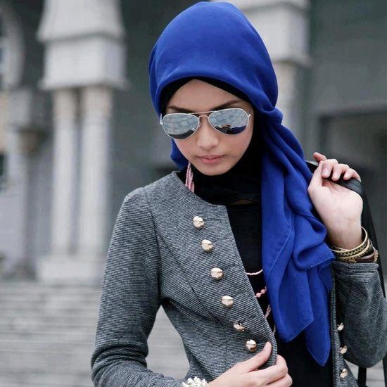 Blue Hijab Styles