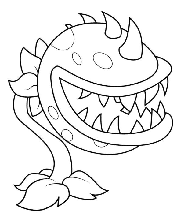 Plant Vs Zombie Coloring Page Plants Vs Zombies Plant Zombie Coloring Pages