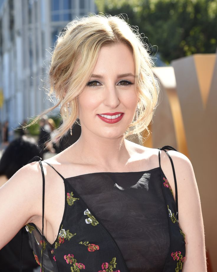 Laura Carmichael wearing Erdem at the 2015 Emmy Awards..