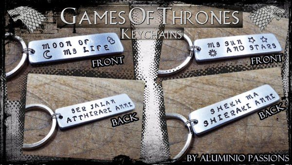 Games of Thrones Keychains by Aluminio Passions (@Aluminiopassion) | Twitter