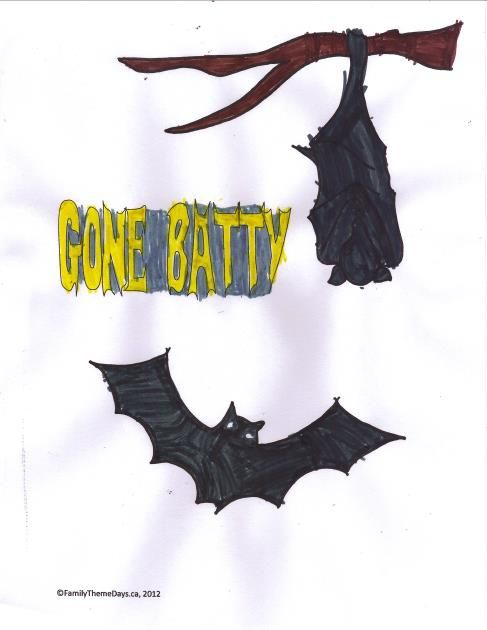bat crafts and activities for families - Halloween Bats Crafts