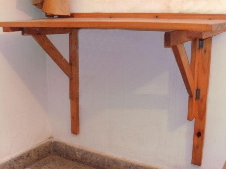 Necesito ideas para hacer mesa desayunador abatible o - Mesa plegable cocina pared ...