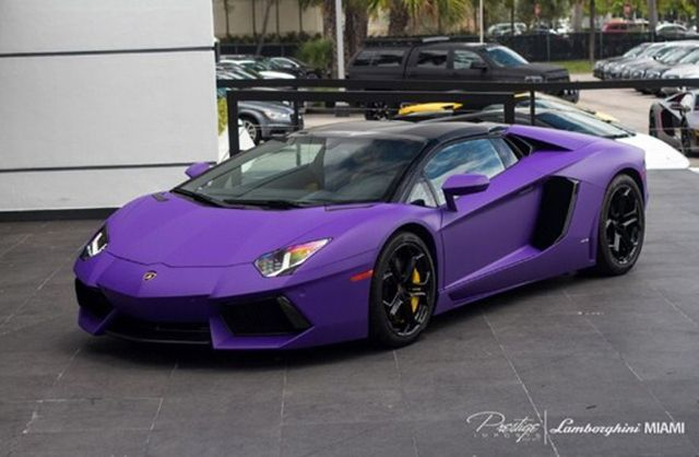 Tygas Matte Purple Drophead Lamborghini Adventador
