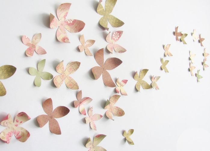 paper flower wall art | Five Crafts to Make with Paper Flowers | Studio DIY®