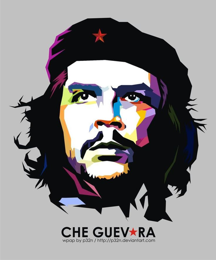 CHE GUEVARA - WPAP Style Portrait by p32n (via Deviant Art) ...I love this wpap style for portraits.