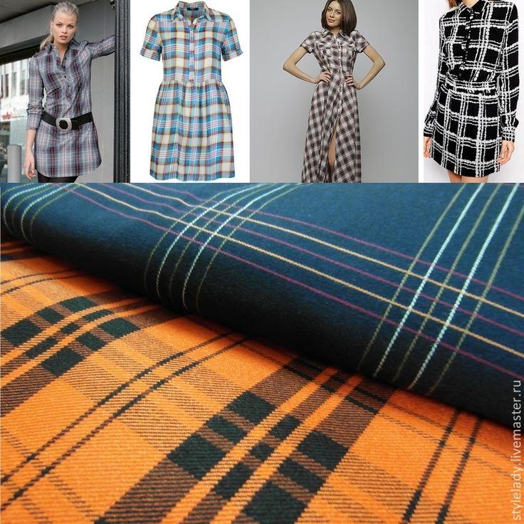 Купить Платье-Рубашка из Итальянского Хлопка - платье, платье-рубашка, в клетку, однотонная, натуральные материалы