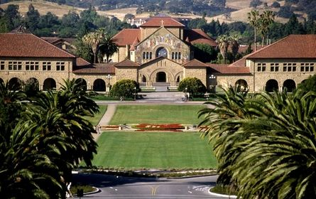 Stanford University Stanford University is a private institution that was founded in 1885. It has a total undergraduate enrollment of 7,063, its setting is suburban, and the campus size is 8,180 acres. It utilizes a quarter-based academic calendar. Stanford University's ranking in the 2014 edition of Best Colleges is National Universities, 5. Its tuition and fees are $43,245 (2013-14). Location: San Francisco, CA