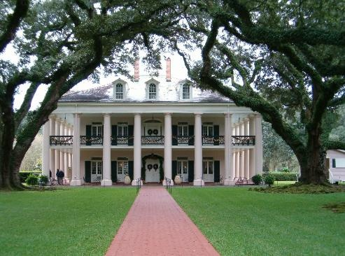 Oak Alley Plantation Located Roximately 60 Miles From North Of New Orleans La