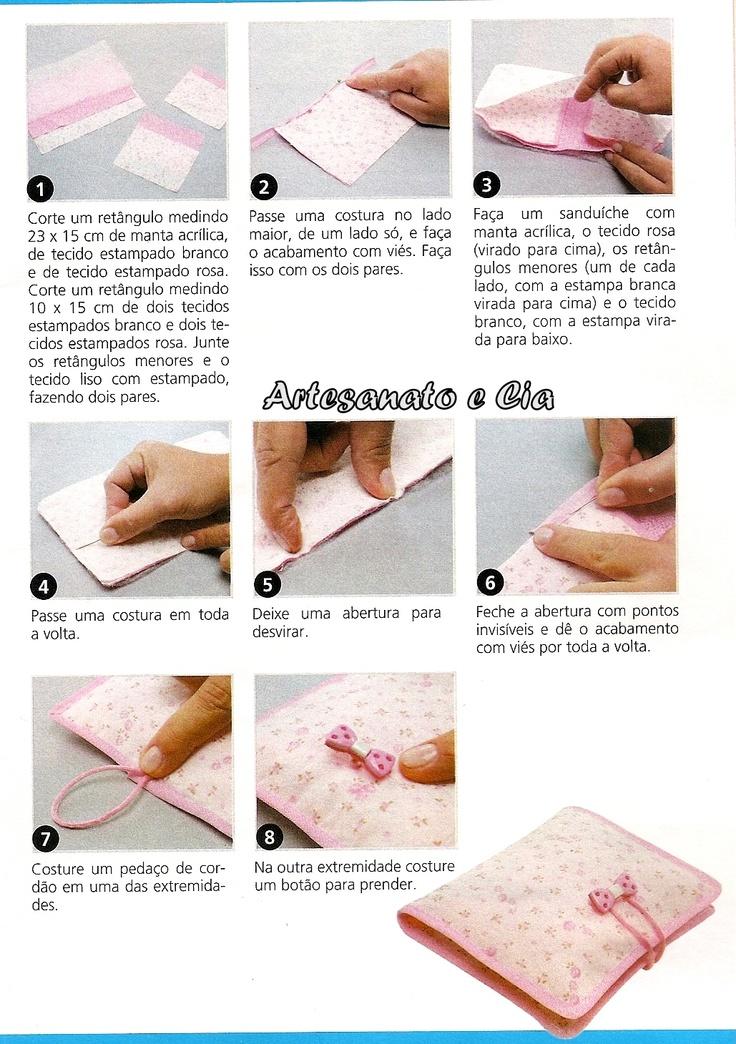 Artesanato e Cia: Porta-absorvente em tecido- passo a passo
