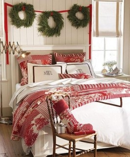 Ideas para regalos. El blog de hazregalos.com: DECORACIONES PARA NAVIDAD: Christmas Beds, Christmas Bedrooms,  Comforter, Quilts,  Puff, Christmas Decor, Red Christmas, Guest Rooms, Bedrooms Decor Ideas