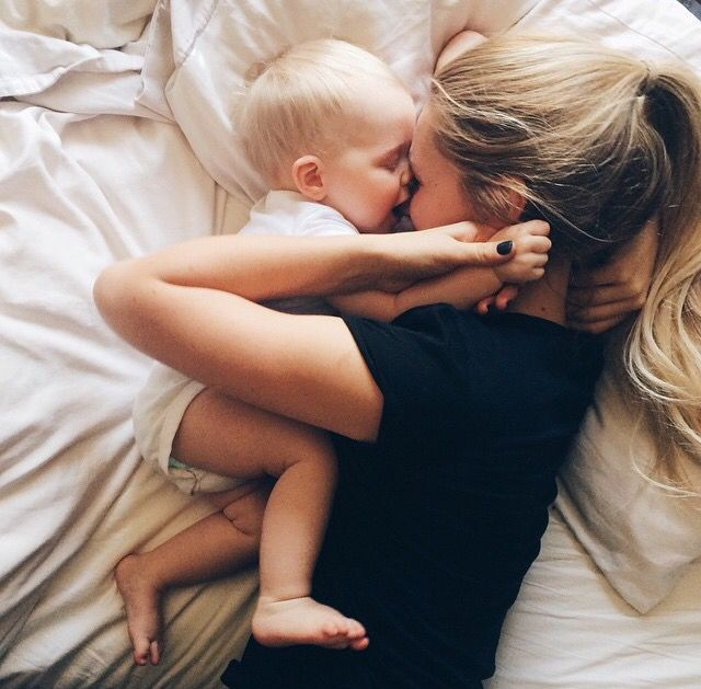 maman bébé cute