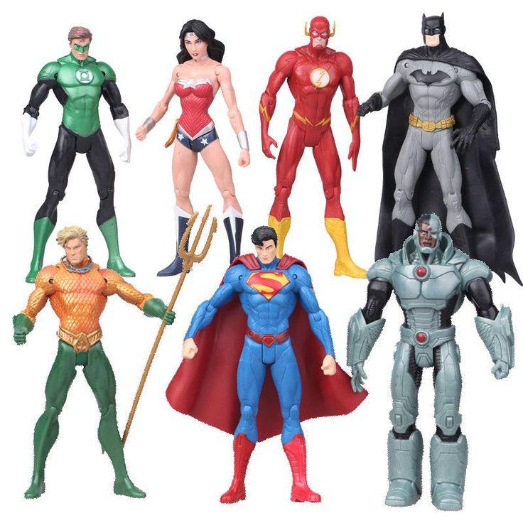 7pcs/set Justice League Action Figure Collectible Model