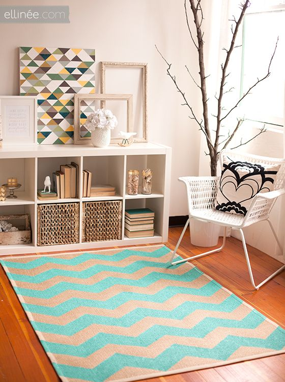 Painting a Chevron Rug Video Tutorial