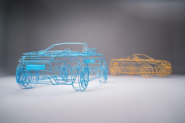 Land Rover Range Rover Evoque Convertible Wireframe Studio 3