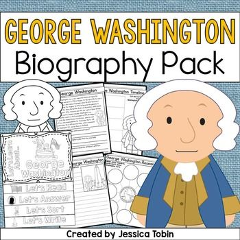 George Washington was an influential man who was America's first president and fought for American freedom. This biography pack covers important facts about George Washington's life for students to learn. Within the pack, they will read about George Washington, research him, write about him, create a flip book about him, and sort important parts of this famous president's life.