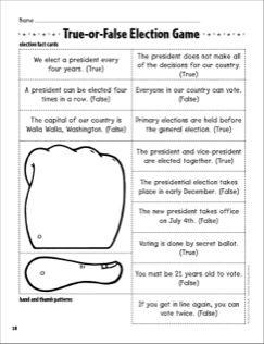 True-or-False Election Game