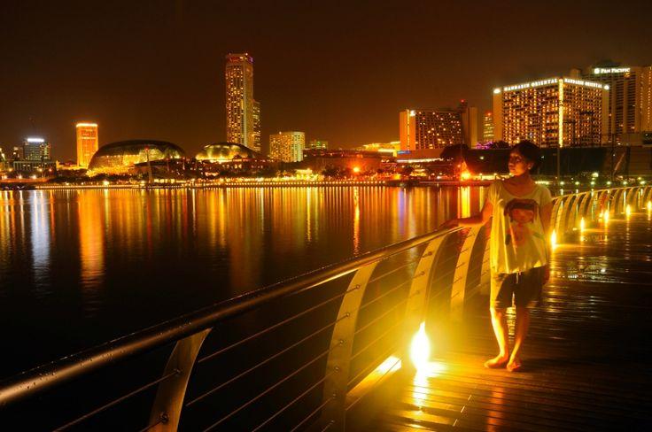 Marina Bay dengan background Esplanade #singapore