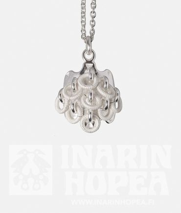 Ice Crystal PendantIce Crystal Pendant  Height 17 mm, width 14 mm Chain length 50 cm Sterling Silver 925 Handmade in Inari, Lapland  Price 76,00€