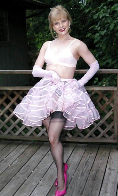 Have removed frilly sissy petticoats vintage