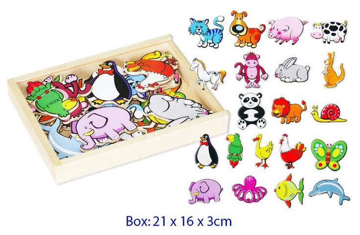 Wooden Animals Magnet Set - 20 pieces - $16 Excellent Quality & strong magnets  20 pieces 3yrs +