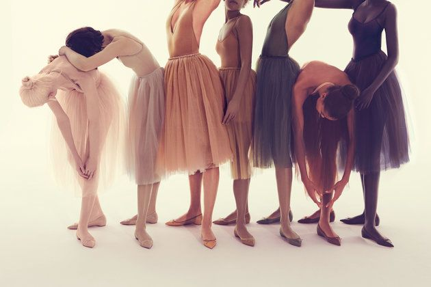 Louboutin has designed seven shades of nude flats